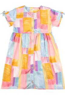 Vestido Infantil Acetinado Filha