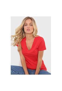 Camiseta Forum Gola V Vermelha