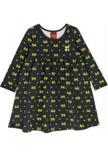 Vestido Infantil Cinza