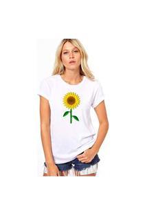 Camiseta Coolest Girassol Branco