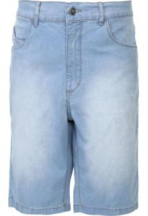 Bermuda Jeans Rip Curl Reta Estonada Azul