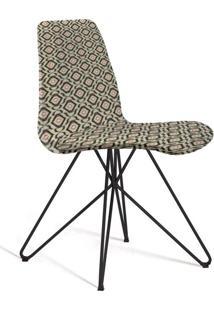 Cadeira De Jantar Eames Butterfly Cinza E Bege