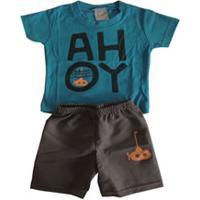 Conjunto Para Menino Azul Time infantil  e5e86d82f92