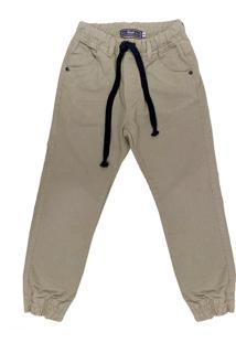 Calça Look Jeans Jogger Caqui