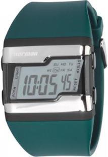 Relógio Feminino Mormaii Troca Pulseira Digital - Unissex-Azul Petróleo