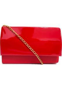 Bolsa Clutch Lisa Envernizada - Vermelho