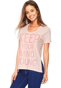 0d80a54d1 Dafiti. Camiseta Calvin Klein Jeans Lettering Rosa