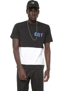3fa6e1c67 Camiseta Adidas Originals Eqt Graphic Preta/Branca