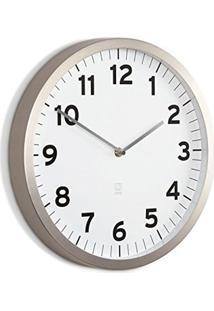 Relógio De Parede Anytime 31,8 Cm Branco Umbra