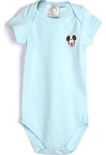 Body Marlan Baby Menino Mickey Azul