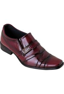 Sapato Bordô Em Verniz Com Adereço