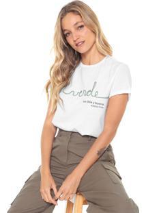 Camiseta Lez A Lez Bordada Branca - Kanui