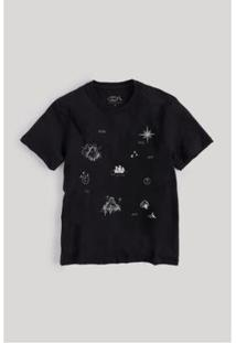 Camiseta Infantil Reserva Mini Mapa Do Tesouro Reserva Mini Masculina - Masculino-Preto