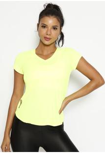 Blusa Lisa- Amarelo Neon- Physical Fitnessphysical Fitness
