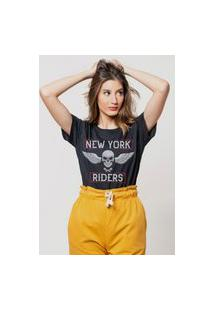 Camiseta Jay Jay Básica New York Riders Preta