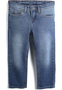 Calça Jeans Calvin Klein Kids Menino Lisa Azul