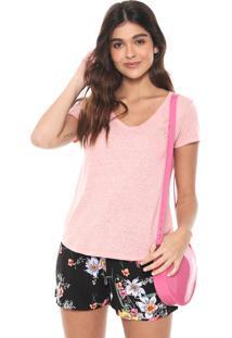 Camiseta Aeropostale Lisa Rosa