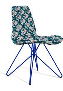 Cadeira De Jantar Eames Butterfly Azul E Verde