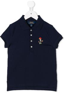 Ralph Lauren Kids Camisa Polo Mangas Curtas - Azul