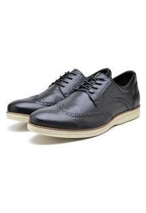 Sapato Masculino Preto Em Couro 9200