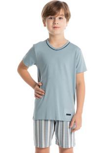 Pijama Infantil Masculino Estampado Curto Leonardo