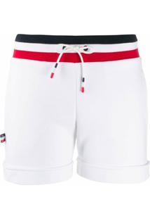 Rossignol Short Esportivo Com Cós Listrado - Branco
