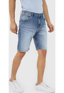 Bermuda Jeans John John Reta Estonada Azul - Kanui