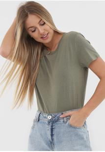 Camiseta Gap Lisa Verde - Verde - Feminino - Algodã£O - Dafiti