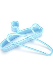 Cabide Le Plástico Kids Com 8 Unidades Azul Bebê
