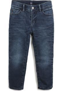 Calça Jeans Gap Infantil Lisa Azul