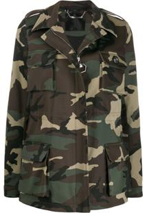 Philipp Plein Jaqueta Militar Com Padronagem Camuflada - Verde