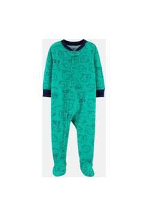 Macacão Pijama Carter'S Elefante Verde
