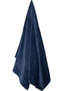 Cobertor Velour Neo Em Microfibra Queen Size- Azul Marincamesa