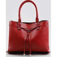 87ae17bf4f5 Bolsa Feminina Tote Com Alça Transversal Removível Vermelha - Único