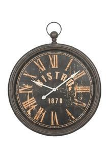 Relógio Decorativo De Parede Bistro 1870 - Unissex