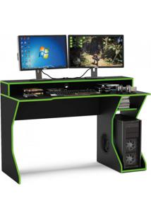 Mesa Para Computador Fremont Politorno Preto/Verde