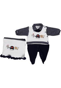 Enxoval Infantil Para Bebê Menino - Masculino-Marinho