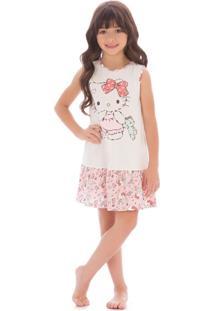Camisola Hello Kitty Infantil Branco