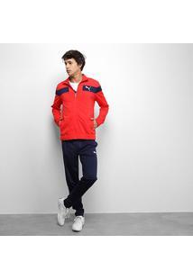 Agasalho Puma Techstripe Tricot Suit Op Masculino - Masculino-Vermelho