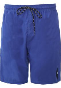 Bermuda ÁGua Quadrada Logo Azul - Azul - Masculino - Dafiti