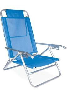 Cadeira De Praia Reclinável Mor Alumínio 5 Posições - Unissex
