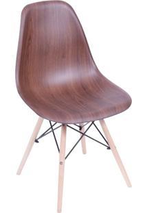 Cadeira Eames Base Madeira E Wood Escuro