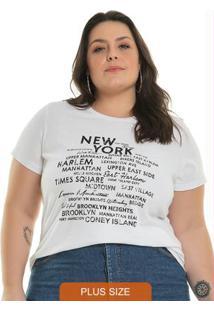 T-Shirt Letter Branco