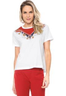 Camiseta Lança Perfume Estampada Branca/Vermelha - Kanui