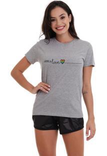 Camiseta Basica Joss Lgbt Frase Mescla - Kanui