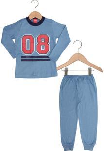 Pijama Tricae Longo Menino Azul