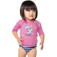 b0d55a4054 Conjunto Praia Bebê Menina Com Blusa E Calcinha Snoopy E Hering Kids