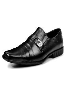 Sapato Social Masculino Francawear Couro Preto Fwr102