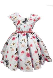 Vestido De Festa Infantil Borboletas Encantadas Lilás