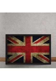 Quadro Decorativo Bandeira Da Inglaterra 25X35